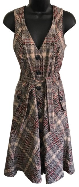 Item - Multicolor Button Down Wool Mid-length Work/Office Dress Size 6 (S)