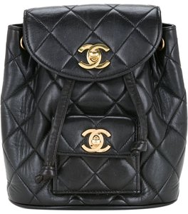 b51716f2cab5 Chanel Backpack Quilted Vintage 1994 Micro Mini Rucksack Black ...