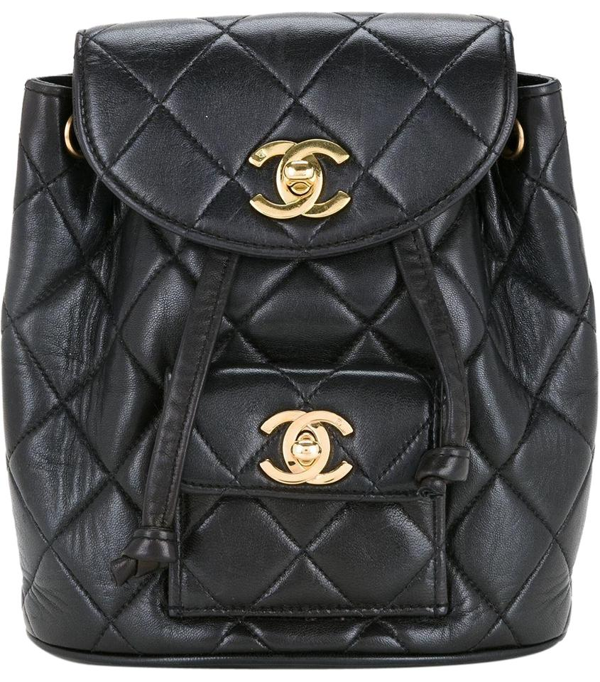 777efe66a75f Chanel Backpack Quilted Vintage 1994 Micro Mini Rucksack Black ...