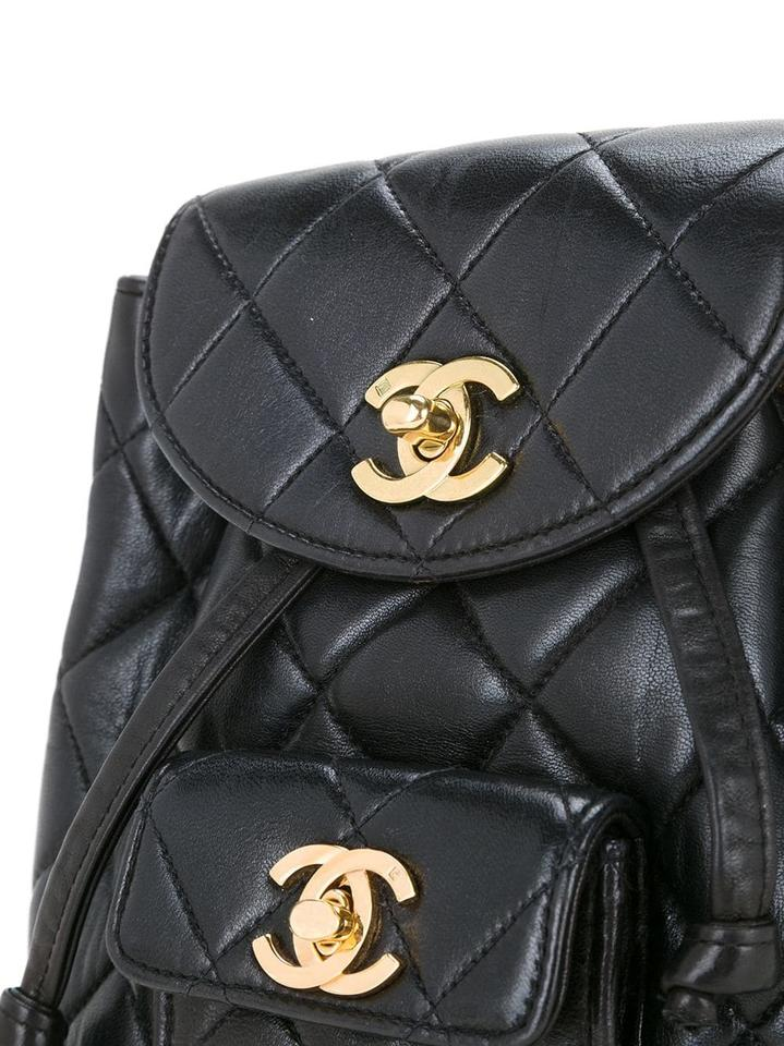 179e10f25d Chanel Quilted Vintage 1994 Micro Mini Rucksack Black Lambskin Leather  Backpack - Tradesy