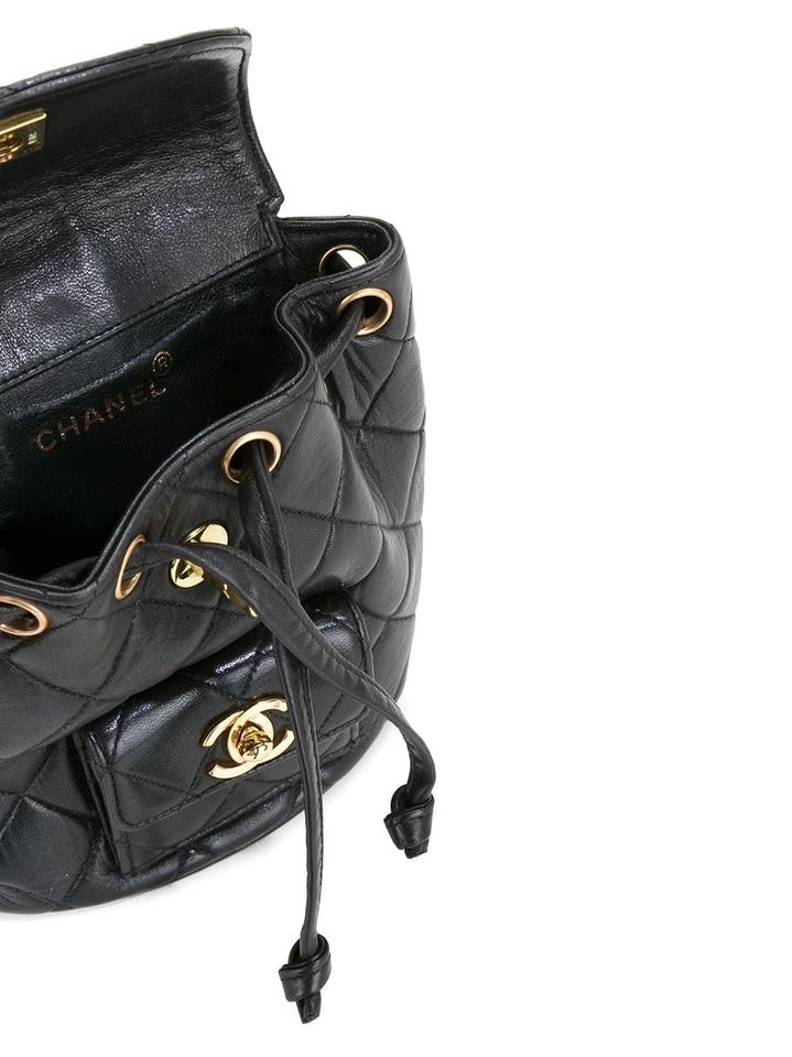 a1e530566b40 Chanel Quilted Vintage 1994 Micro Mini Rucksack Black Lambskin Leather  Backpack - Tradesy