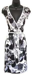 Miss Sixty short dress blk/white Wrap on Tradesy