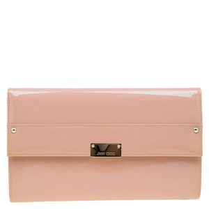 Jimmy Choo Blush Pink Patent Leather Reese Wallet Clutch