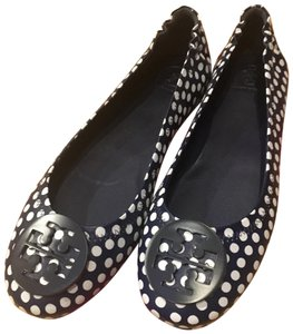 Tory Burch Navy Sea, New Ivory Nautical Dots Flats