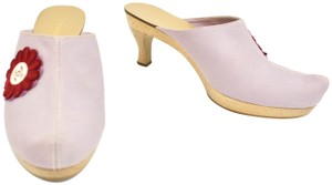 Chanel Leather Heel Cc Lavender & Mules
