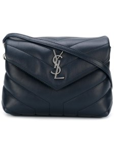 Saint Laurent Silver Hardware Crisscross Strap Cross Body Bag