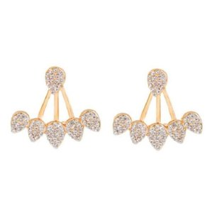 Rebecca Minkoff Gold & Pave Crystal Jacket Earrings