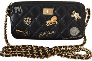 997c14e79807 Chanel Clutch Lucky Charms Woc Cross Body Bag. Chanel Clutch With Chain 17a  Lucky Charms Black Aged Calfskin ...