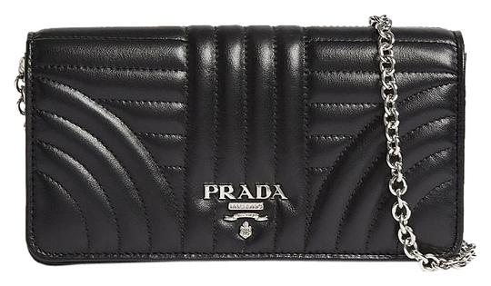 177669d62e81 Prada Black Quilted Wallet Chain Bag. Prada Black Chevron Quilted Tessuto  Nylon ...