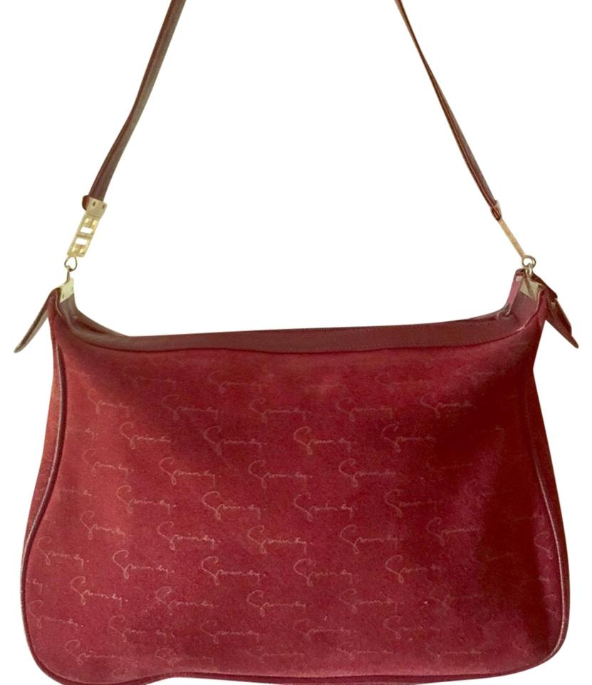 Givenchy Signature Deep Red Leather and Suede Shoulder Bag - Tradesy eac1e0e259846