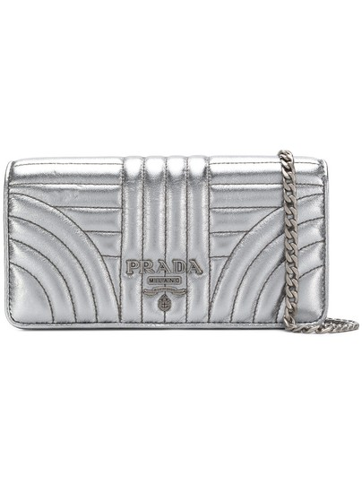 605f8961711c2b Prada Quilted Wallet-on-chain Silver Leather Cross Body Bag - Tradesy