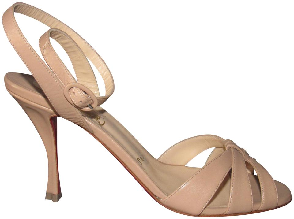 Christian Louboutin Beige Nude Sandals New Trezuma 85 Leather Sandals Nude 45baae