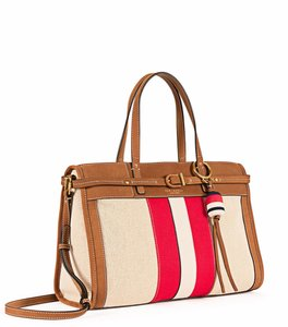 Tory Burch Satchel in Ivory/Red
