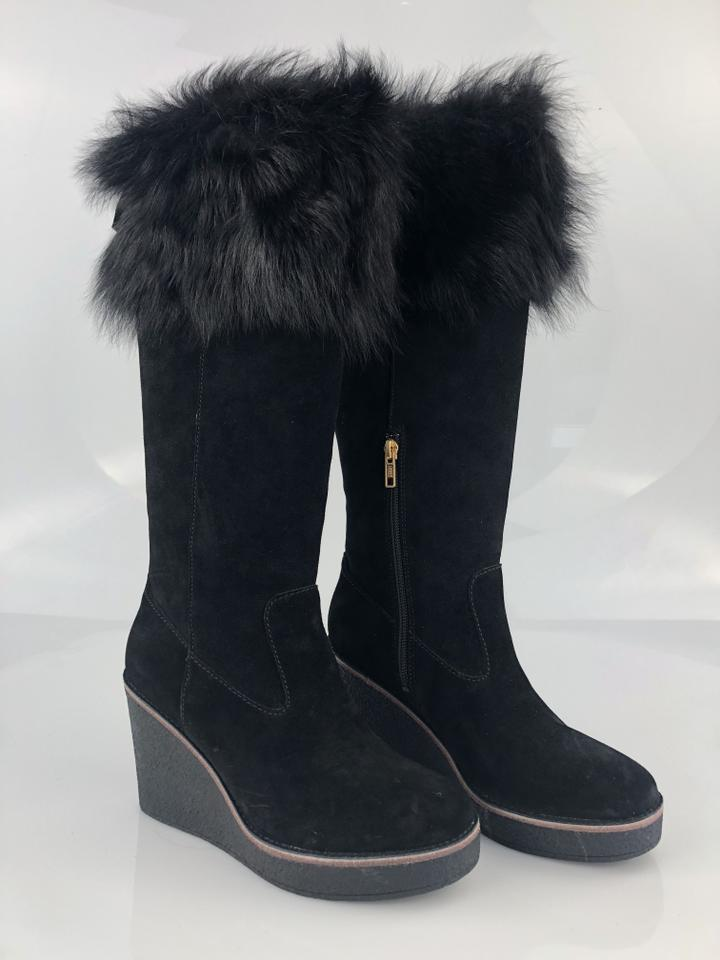 6200754d9bfc UGG Australia Black Valberg Suede Wedge Boots Booties Size US 7.5 ...