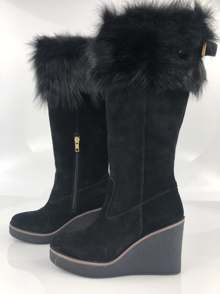 ff85e3b6a0df UGG Australia Black Valberg Suede Wedge Boots Booties. Size  US 7.5 Regular  (M ...
