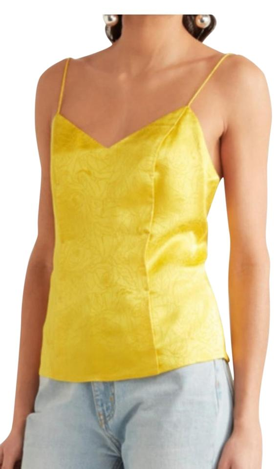 0bfbc9454c121 Topshop Yellow Unique Collection Silk Jacquard Camisole Tank Top ...