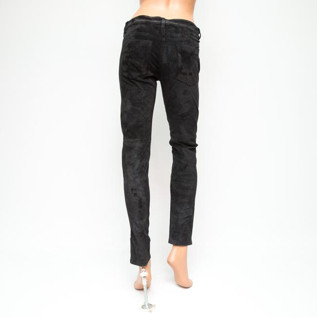 JOE'S Jeans Suede Collection Leather Ankle Skinny Pants Black Image 3