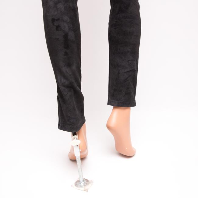 JOE'S Jeans Suede Collection Leather Ankle Skinny Pants Black Image 6