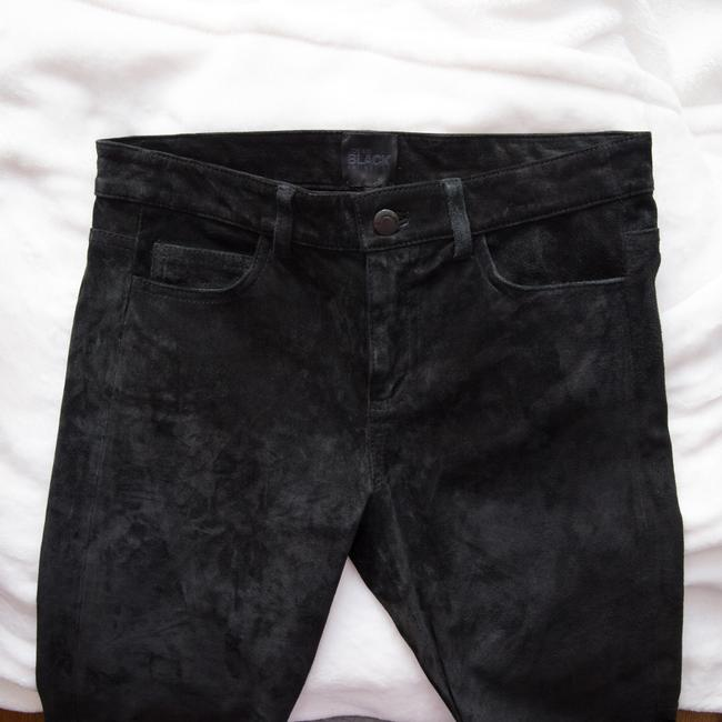 JOE'S Jeans Suede Collection Leather Ankle Skinny Pants Black Image 7