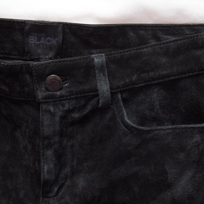 JOE'S Jeans Suede Collection Leather Ankle Skinny Pants Black Image 8