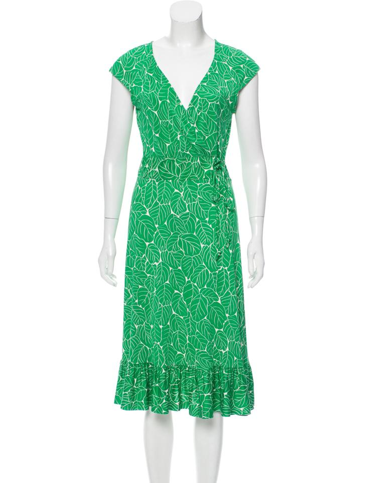 Diane von Green Montana Furstenberg Dress Office Work Leaf OORn1Hxr