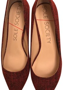 Sole Society Red/Black Pumps