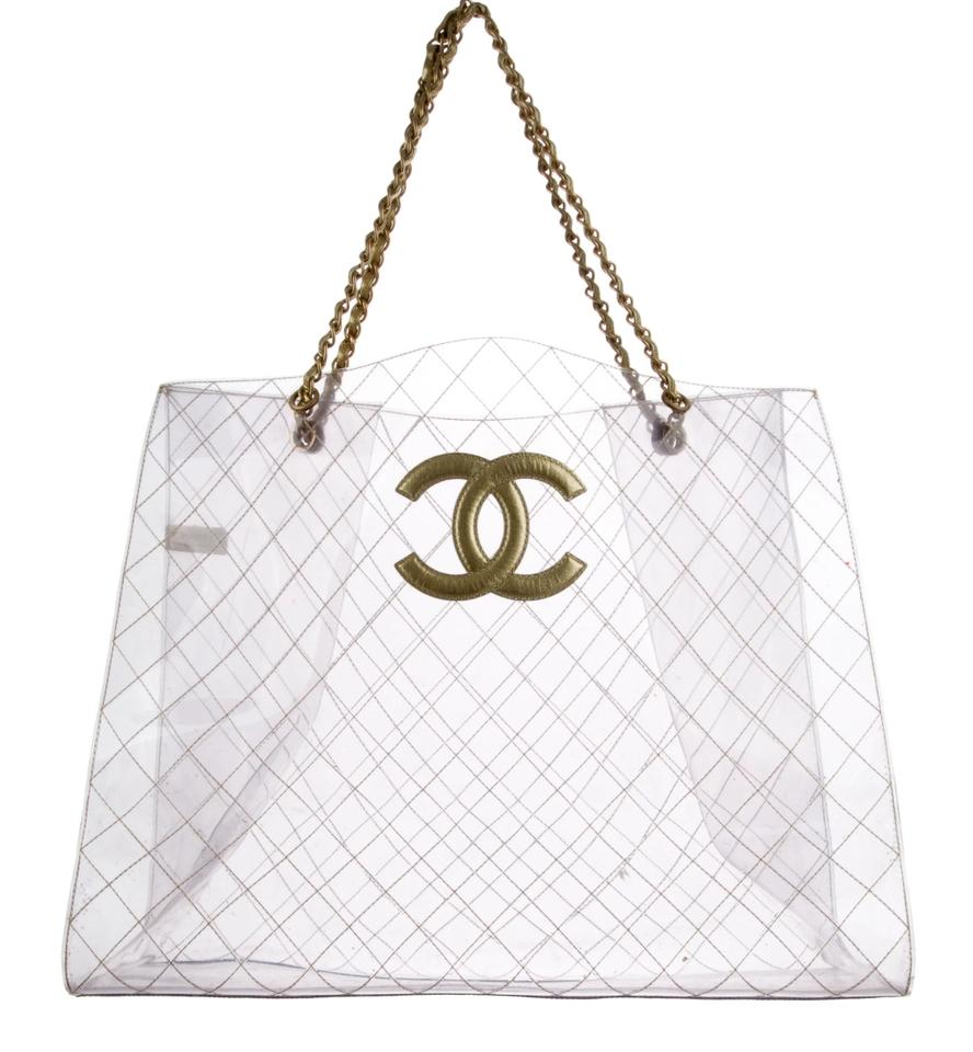 72b1ffcb2771fc Chanel Leather Clear Vintage Timeless Tote in Transparent Image 0 ...