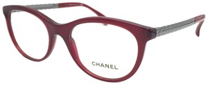 Chanel Bordeaux, Silver Oval Quilted Rx Eyeglasses Frame 3357 1528