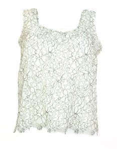 Chanel Lace Sleeveless Top white