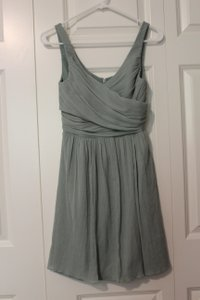 J.Crew Dusty Shale Modern Bridesmaid/Mob Dress Size Petite 4 (S)