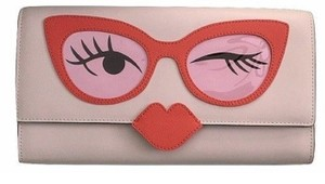 Kate Spade Rose Colored Glasses pink Clutch