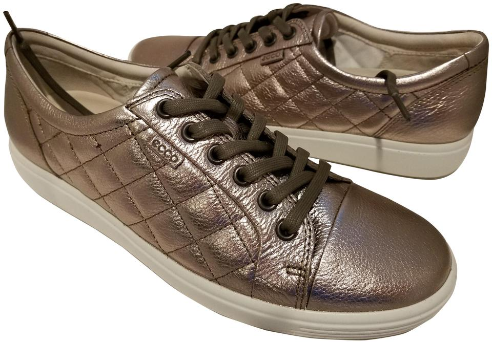 sale retailer 1472a fd148 Ecco Metallic Pewter Women's 7 Leather Quilted Lace-up Sneakers Size EU 41  (Approx. US 11) Regular (M, B)
