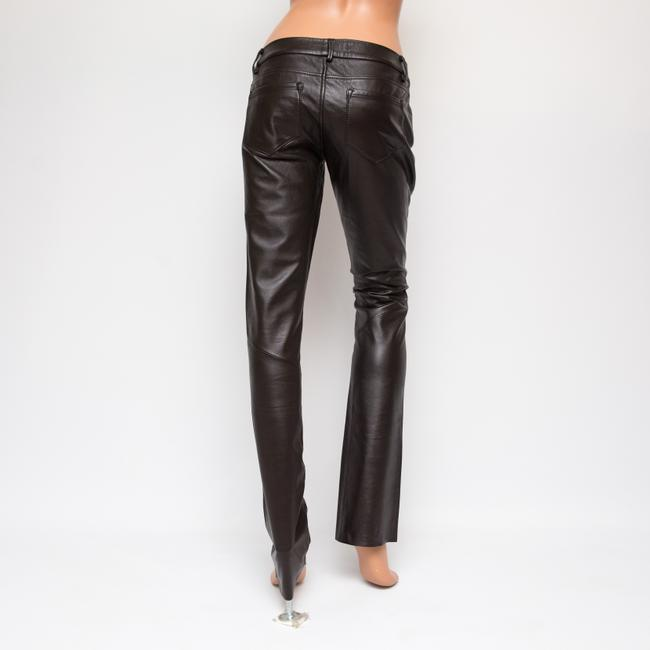 Paige Leather Hyde Lined Skinny Pants brown Image 1