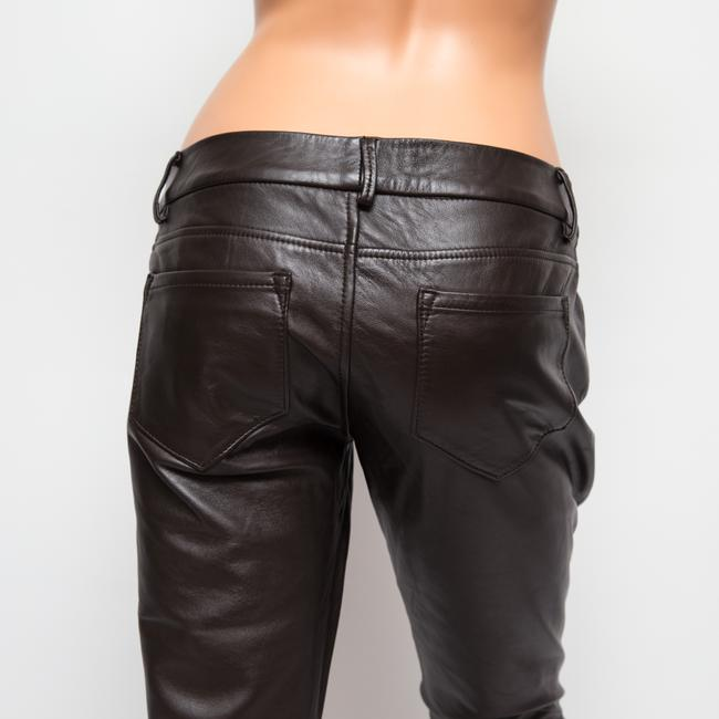 Paige Leather Hyde Lined Skinny Pants brown Image 5