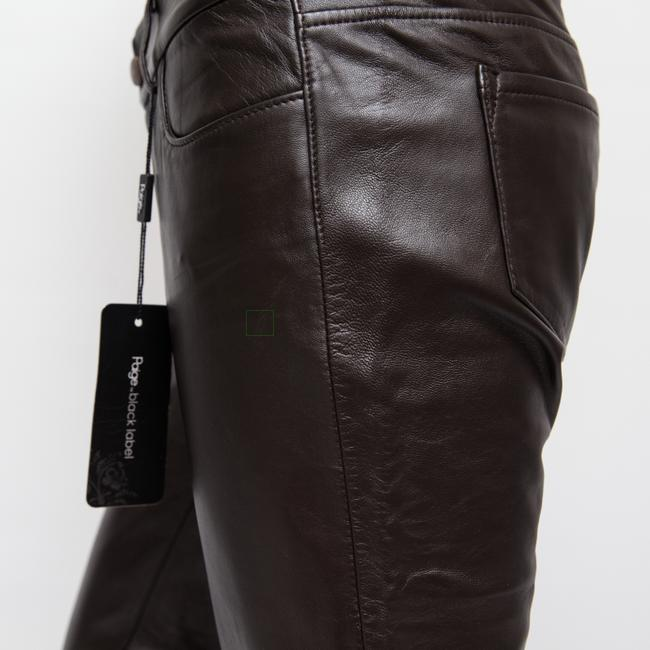 Paige Leather Hyde Lined Skinny Pants brown Image 7
