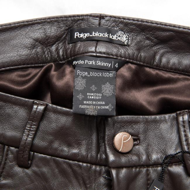 Paige Leather Hyde Lined Skinny Pants brown Image 9