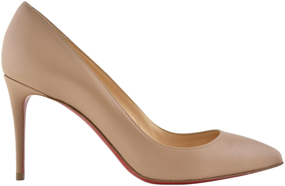 c1802ee17902 Christian Louboutin Nude Pigalle Follies 85 Beige Nappa Leather Classic  Stiletto Heel Pumps