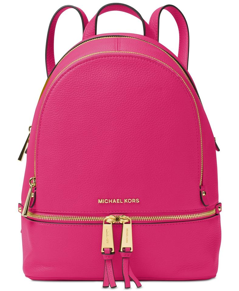 732072d61942 Michael Kors Rhea Zip Small Ultra Pink Leather Backpack - Tradesy