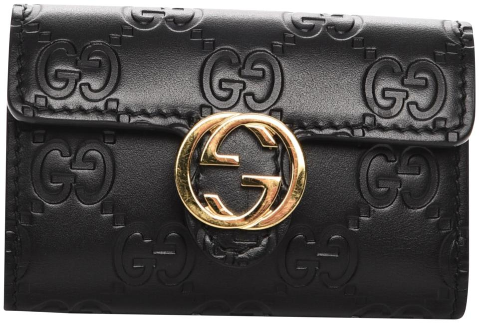 8a8c40f2b33 Gucci Black Guccissima Icon Signature 6 Key Holder Case Wallet - Tradesy