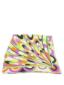 Emilio Pucci Pucci Yellow Multi-Color Silk Square Scarf