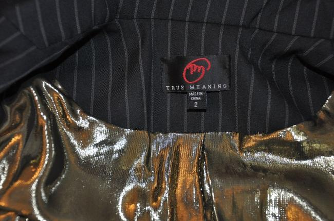 True Meaning Black with gold sequin Blazer