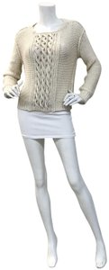 Inhabit Cable Knit Ivory Fall Sweater