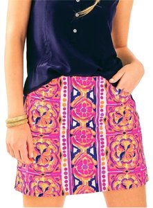Lilly Pulitzer Fusion Mini Skirt Pink and Multi