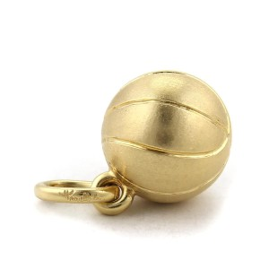 Pomellato Solid Basket Ball Charm in 18k Yellow Gold