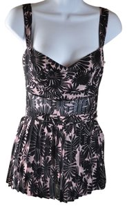 Tuleh And Multi-color Silk Flower Camisole Size S Top Multi Black - Nude