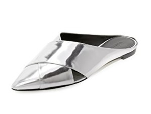 Sigerson Morrison Silver Patent Leather Mules