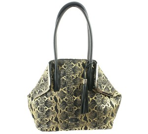 INC International Concepts Tote in Black & Gold