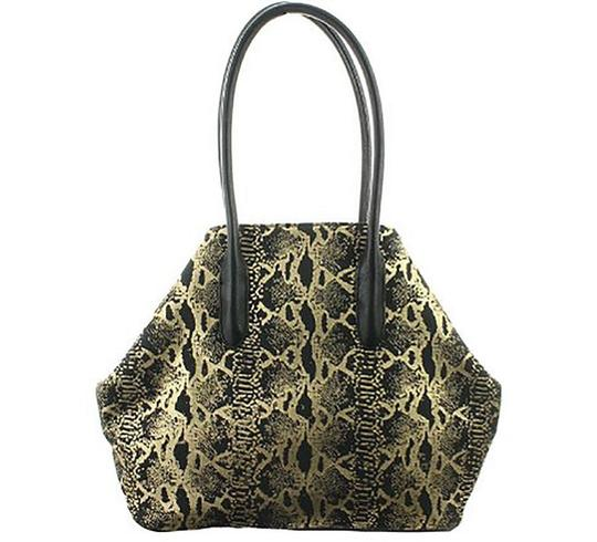 INC International Concepts Tote in Black & Gold Image 1