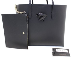3733fb5723d8 Versace Medusa Tote Black Leather Shoulder Bag - Tradesy
