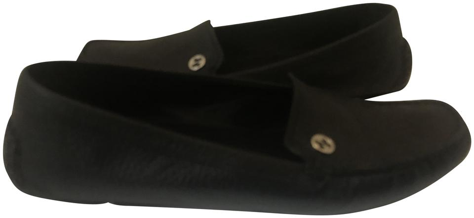 8773fdfa459 Gucci Black 118618 Pebbled Leather Driving Moccasin Loafers Flats ...